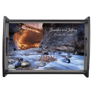 Personalized Serving Tray, Zion National Park Serving Tray