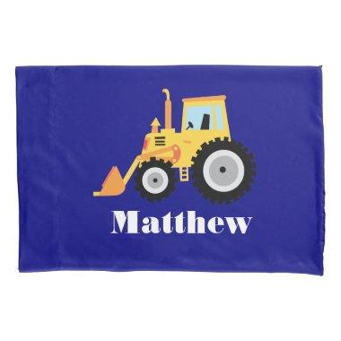 Personalized Toy Truck with Boy's Name Pillow Case