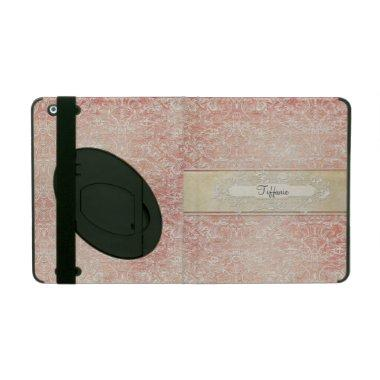 Personalized Vintage French Regency Lace Etched iPad Case