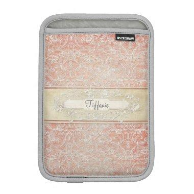 Personalized Vintage French Regency Lace Etched iPad Mini Sleeve