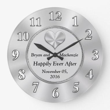 Personalized Wedding Anniversary Gift Ideas CLOCK
