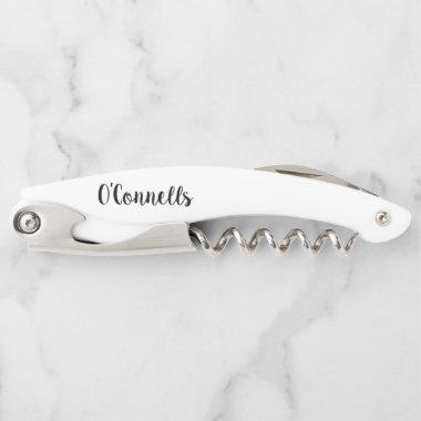 personalized wedding corkscrew