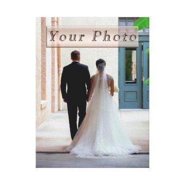 Personalized Wedding Photo Canvas