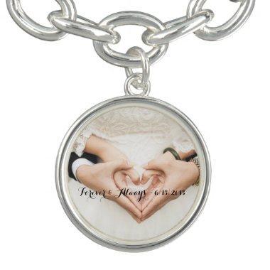 Personalized Wedding Photo Forever & Always Bracelet