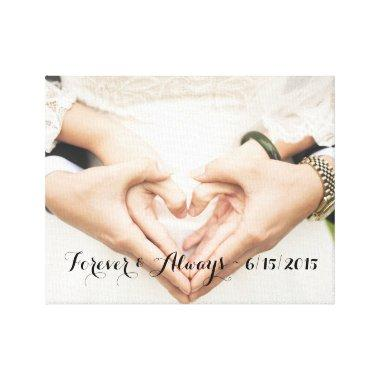 Personalized Wedding Photo Forever & Always Canvas Print