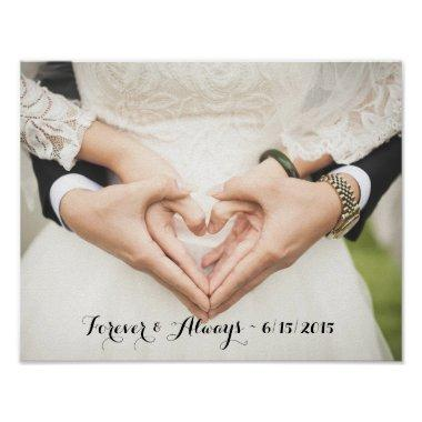 Personalized Wedding Photo Forever & Always Poster