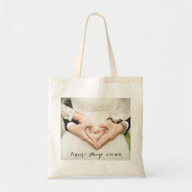 Personalized Wedding Photo Forever & Always Tote Bag