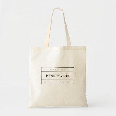 Personalized Wedding Welcome Tote