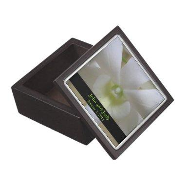 Personalized White Orchid Wedding Gift Box