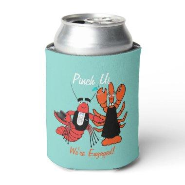 Pinch Us Engagement Crawfish Boil Party Favors Can Cooler
