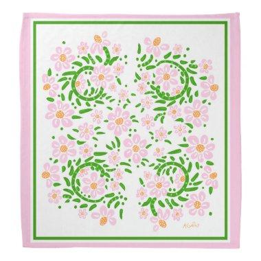Pink and Green Bridal Bandana