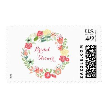 Pink  Wreath - Postage Stamp