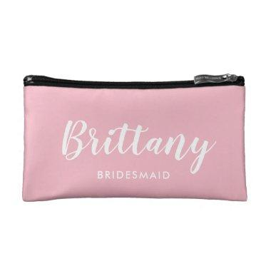 Pink Bridesmaid Gift Cosmetic Bag | Makeup Bag