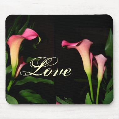 Pink Calla Lily Love Mousepad