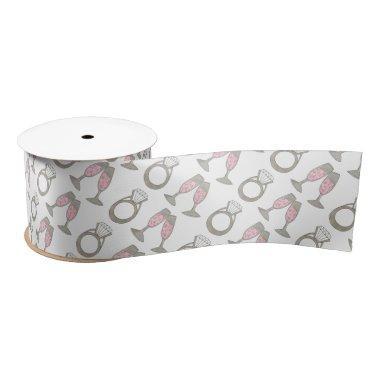 Pink Champagne Wedding Ring  Ribbon