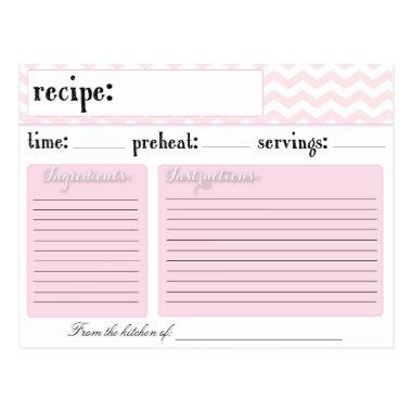 Pink Chevron Wedding  Recipe