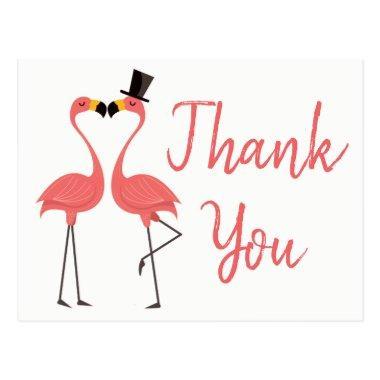 Pink Flamingo Thank You Tropical Wedding, Bridal Post