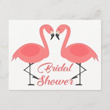 Pink Flamingos  Tropical Summer Luau Invitation Post