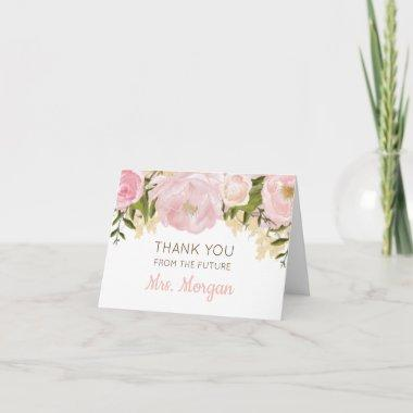 Pink Floral Thank You Invitations