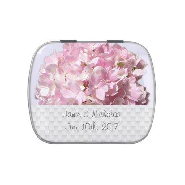 Pink Floral Wedding Favor Candy Tin