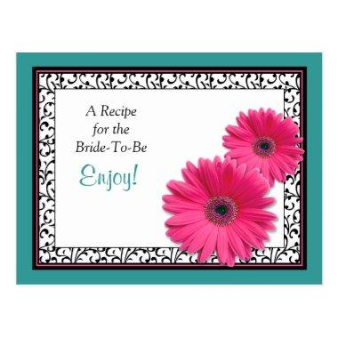 Pink Gerbera Teal Recipe  for the Bride to Be