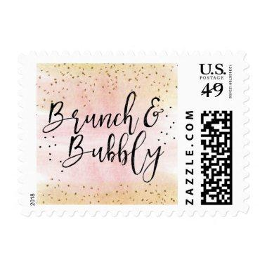 Pink Gold Brunch and Bubbly  Stamp