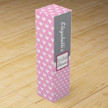 Pink Heart Themed  A12A Wine Box