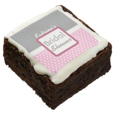 Pink Heart Themed  A20 Chocolate Brownie