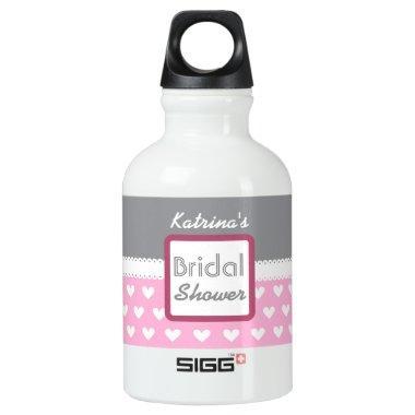 Pink Heart Themed  A28 Water Bottle