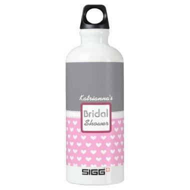 Pink Heart Themed  A28A Aluminum Water Bottle