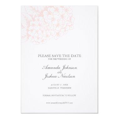 Pink Hydrangea Save the Date