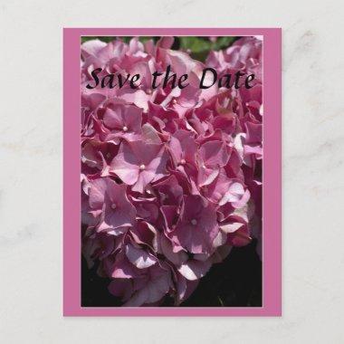 Pink Hydrangea Wedding save the date post