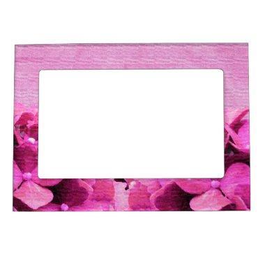 Pink Hydrangeas Magnetic Frame