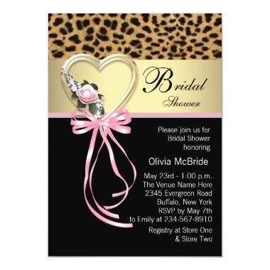 Pink Leopard Black Gold Leopard