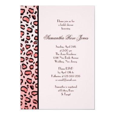 Pink Leopard Print  Left Stripe