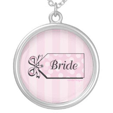 Pink Name Tag Bride Necklace