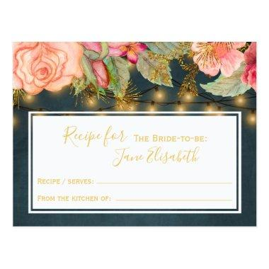 Pink navy gold romantic bride to be recipe