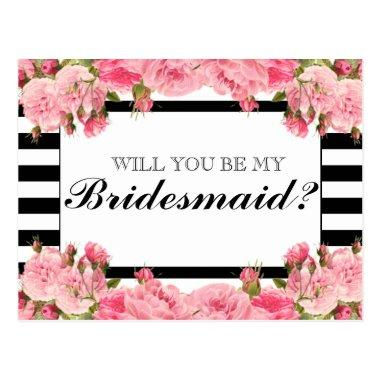 Pink Peonies & Stripes | Bridesmaid Post