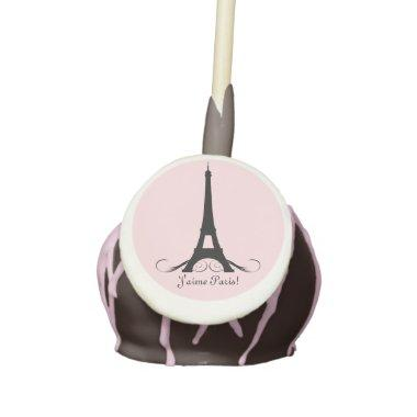 Pink Personalized Eiffel Tower J'aime Paris! Cake Pops