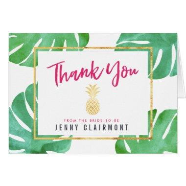 Pink Pineapple  Thank You Note