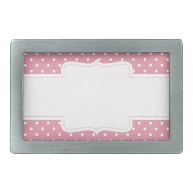 Pink Polka Dots Delicate Bridal or Baby Shower Belt Buckle