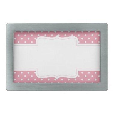 Pink Polka Dots Delicate Bridal or Baby Shower Belt Buckle