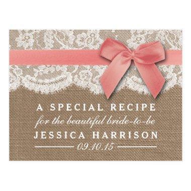 Pink Ribbon On Burlap & Lace  Recipe Post