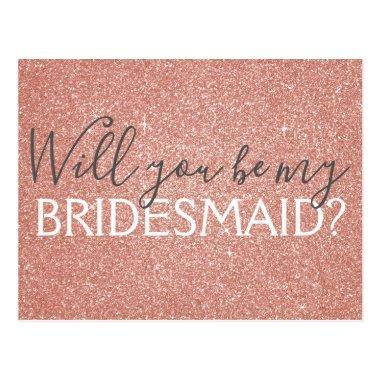 Pink Rose Gold Glitter and Sparkle Bridesmaid Post