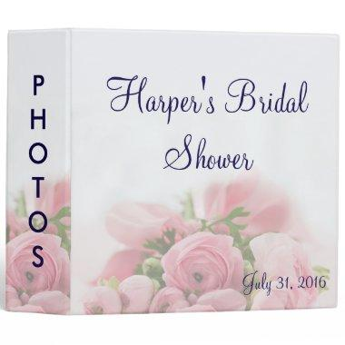 Pink Roses Bouquet  Photo Album 3 Ring Binder