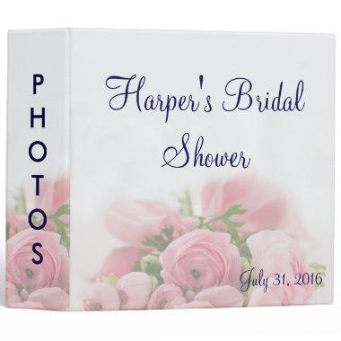 Pink Roses Bouquet  Photo Album 3 Ring Binder