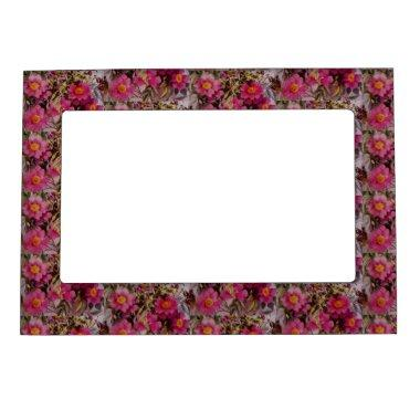 Pink Swamp Rose Flower Magnetic Picture Frame