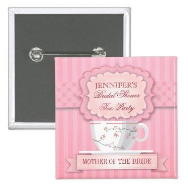Pink Tea Party  Button