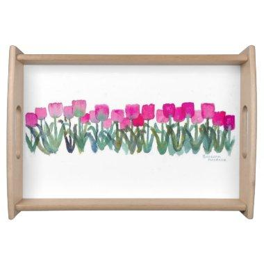 Pink Tulip Grove Tray
