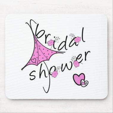 Pink Umbrella  Mouse Pad